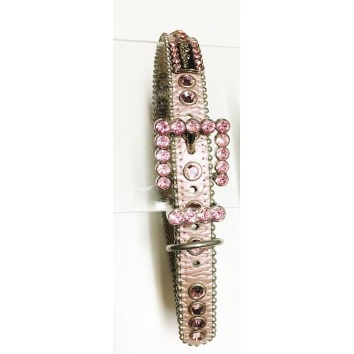 BB Simon Metallic Pink Swarovski Collar