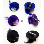 Flower Feather Hat