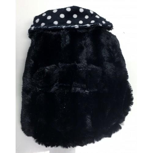 Black Chinchilla on Polkadot Coat