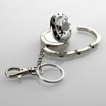 Diamond Top Purse hanger & keychain with mirror