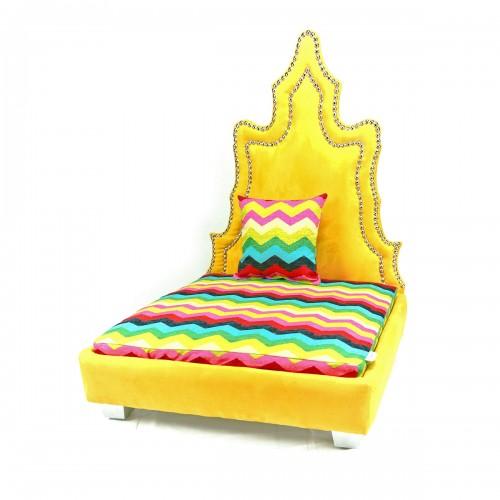 Revati Gold Pet Bed