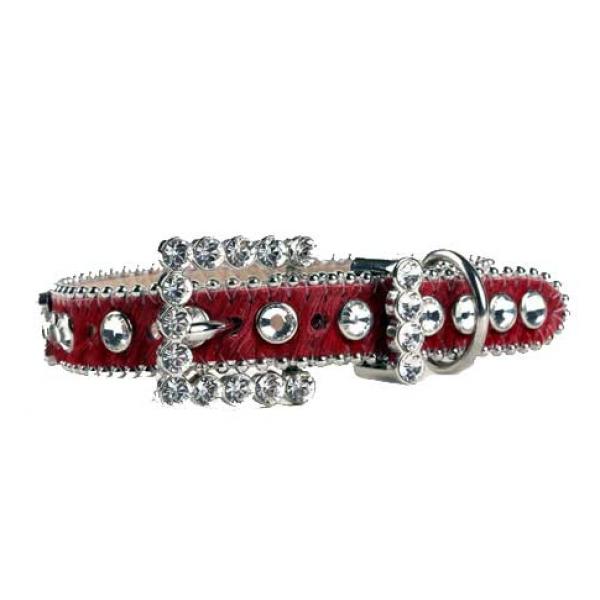 Bb Simon Red Leather Swarovski Collar