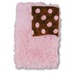 Pink Dot Shag Blanket