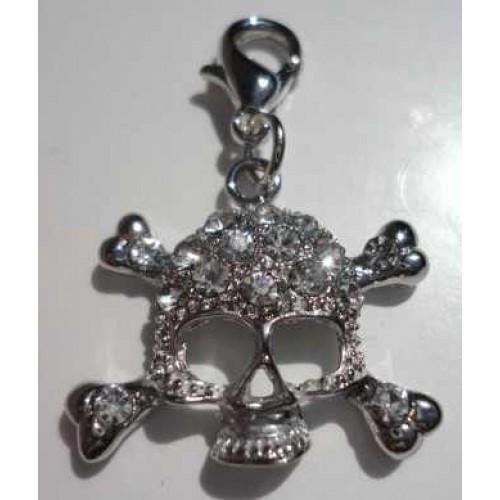 Crystal Skull Charm
