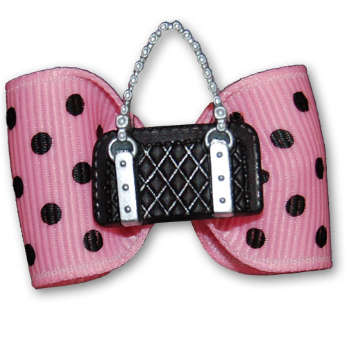 Dotty Bag Hair Bow