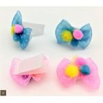 12 Pack Velcro Pom Dot Bows