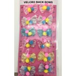 12 Pack Velcro Metallic Bows