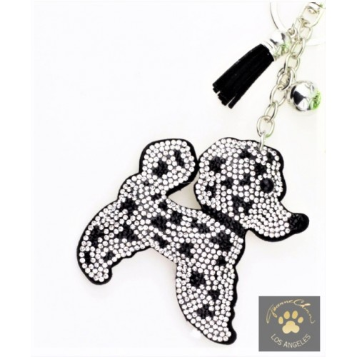 Poodle Bling Keychain