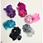 Rosette Feather Fascinator