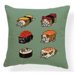 Bulldog Sushi Pillowcase