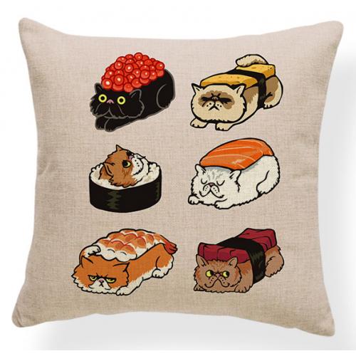 Cat Sushi Pillowcase