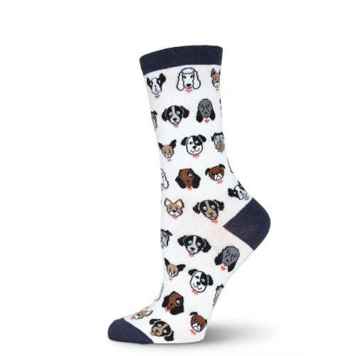 Dog Faces Crew Socks