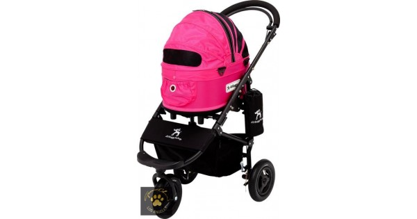 Airbuggy Smalldogstroller Pettravel DogLuxury brake sm pink front dogcarrier