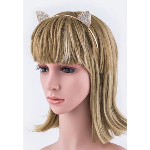 Metallic Crystal Cat Ears Headband