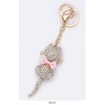 Kitty Bow Keychain