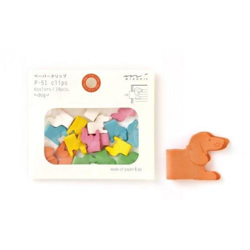 Dog MultiColored Clips