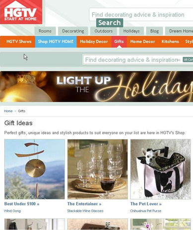 Official selection in HGTV's 2011 Holiday Gift Guide!